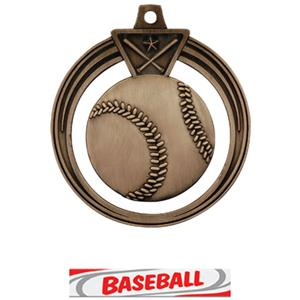 BRONZE MEDAL/DELUXE BASEBALL RIBBON