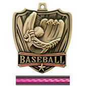 "Hasty Awards 2.5"" Shield Baseball Medals"