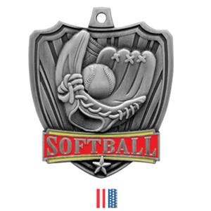 SILVER MEDAL / FLAG RIBBON