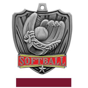 SILVER MEDAL / MAROON RIBBON