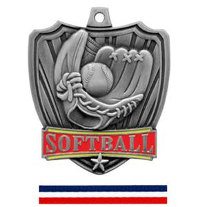 SILVER MEDAL / (RWB) RED WHITE &amp; BLUE RIBBON