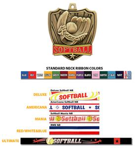 SILVER MEDAL / AMERICANA SOFTBALL RIBBON