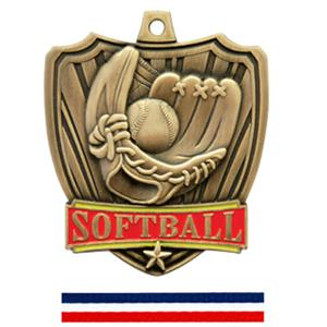 GOLD MEDAL / (RWB) RED WHITE &amp; BLUE RIBBON
