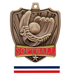 BRONZE MEDAL / (RWB) RED WHITE &amp; BLUE RIBBON