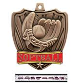 "Hasty Awards 2.5"" Shield Softball Medals"