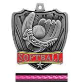 "Hasty Awards 2.5"" Shield Softball Medals"