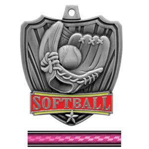 SILVER MEDAL/VICTORY PINK NECK RIBBON