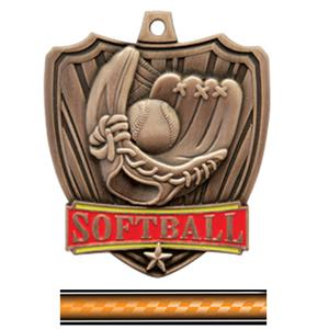BRONZE MEDAL/VICTORY ORANGE NECK RIBBON