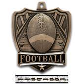 "Hasty Awards 2.5"" Shield Football Medals"