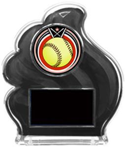 BLACK TROPHY - ECLIPSE SOFTBALL MYLAR/BLACK PLATE
