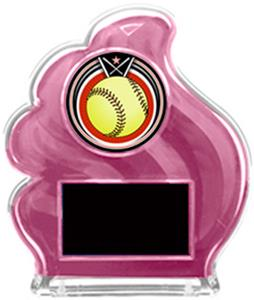 PINK TROPHY - ECLIPSE SOFTBALL MYLAR/BLACK PLATE