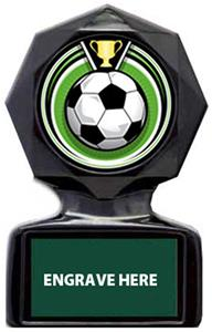 ECLIPSE SOCCER MYLAR/DARK GREEN METAL PLATE