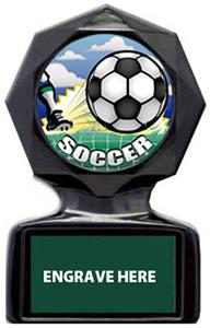 HD SOCCER MYLAR/DARK GREEN METAL PLATE