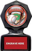 """Hasty Awards 5"""" or 6"""" Baseball Black Ice Trophy"""