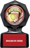 "Hasty Awards 5"" or 6"" Softball Black Ice Trophy"
