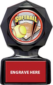 PROSPORT SOFTBALL MYLAR/RED METAL PLATE