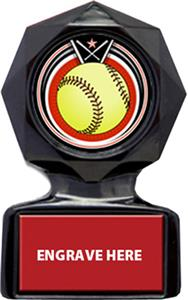 ECLIPSE SOFTBALL MYLAR/RED METAL PLATE
