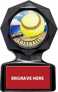 HD SOFTBALL MYLAR/RED METAL PLATE