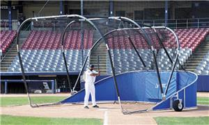 RED BIG LEAGUE CAGE