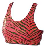 Pizzazz Cheerleaders Zebra Glitter Sports Bras