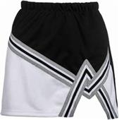 Teamwork 2 Color A-line Cheer Skirt with Trim