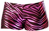 JB Bloomers Metallic Zebra Print Bootie Shorts