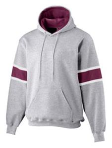 ATHLETIC HEATHER/ MAROON/ WHITE