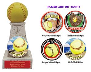 HD SOFTBALL MYLAR/RED PLATE