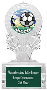 HD SOCCER MYLAR/DARK GREEN PLATE