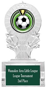 ECLIPSE SOCCER MYLAR/DARK GREEN PLATE