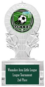 SHIELD SOCCER MYLAR/DARK GREEN PLATE