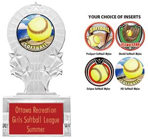 ECLIPSE SOFTBALL MYLAR/RED PLATE