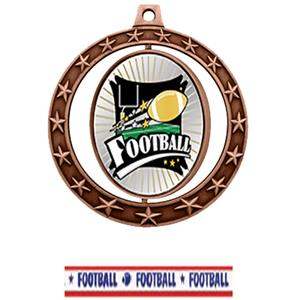 BRONZE MEDAL / AMERICANA FOOTBALL RIBBON