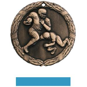 BRONZE MEDAL/LT. BLUE RIBBON