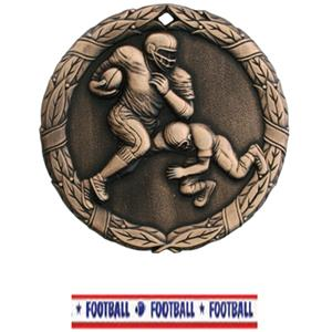 BRONZE MEDAL/AMERICANA FOOTBALL RIBBON