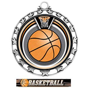 SILVER/ULTIMATE BASKETBALL RIBBON