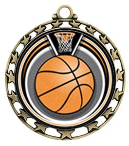 SILVER/AMERICANA BASKETBALL RIBBON