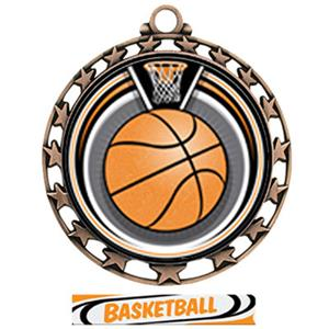 BRONZE/DELUXE BASKETBALL RIBBON