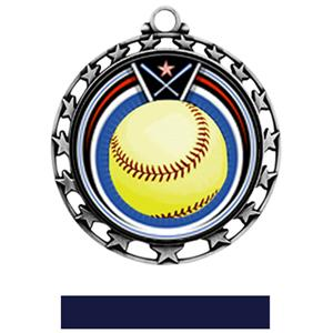SILVER MEDAL / NAVY RIBBON
