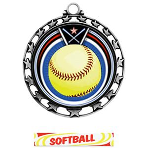 SILVER MEDAL / DELUXE SOFTBALL RIBBON