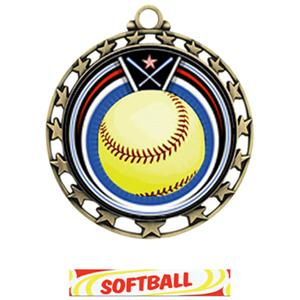 GOLD MEDAL / DELUXE SOFTBALL RIBBON