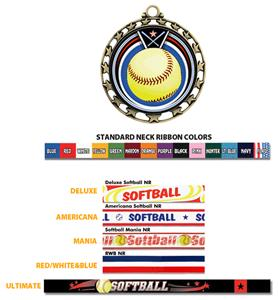 BRONZE MEDAL / AMERICANA SOFTBALL RIBBON