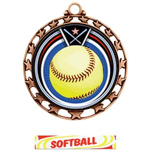 BRONZE MEDAL / DELUXE SOFTBALL RIBBON