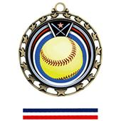 Hasty Awards Softball Eclipse Insert Medals M-4401
