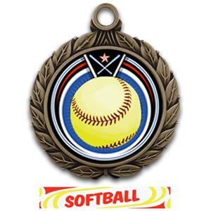 BRONZE/DELUXE SOFTBALL RIBBON