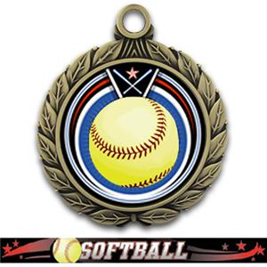 GOLD/ULTIMATE SOFTBALL RIBBON