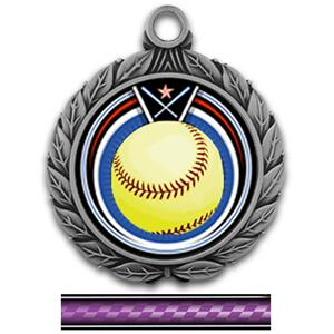 SILVER MEDAL/VICTORY PURPLE NECK RIBBON