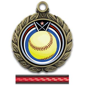 GOLD MEDAL/VICTORY RED NECK RIBBON