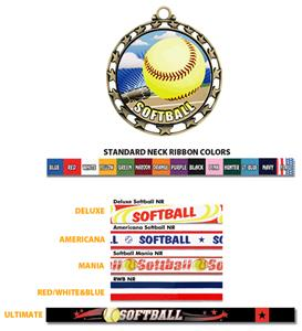 SILVER MEDAL/AMERICANA SOFTBALL RIBBON