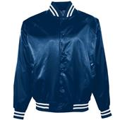 Augusta Youth Satin Baseball Jacket/Striped Trim